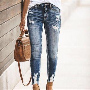 Denim - JUST IN‼️ Riley Distressed Skinnies